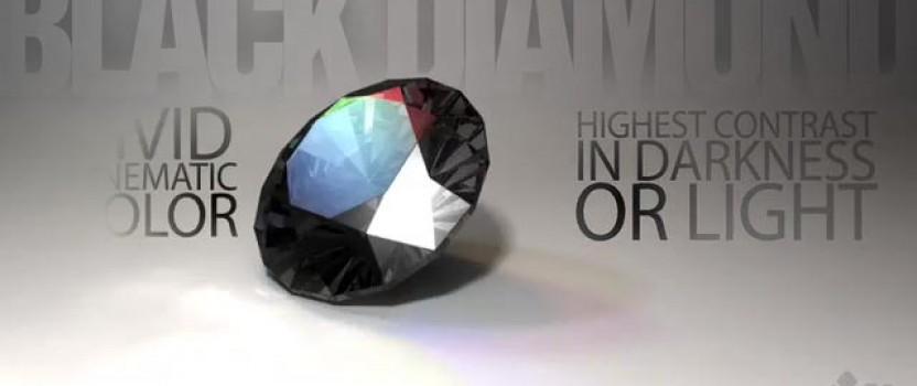 Black Diamond on White