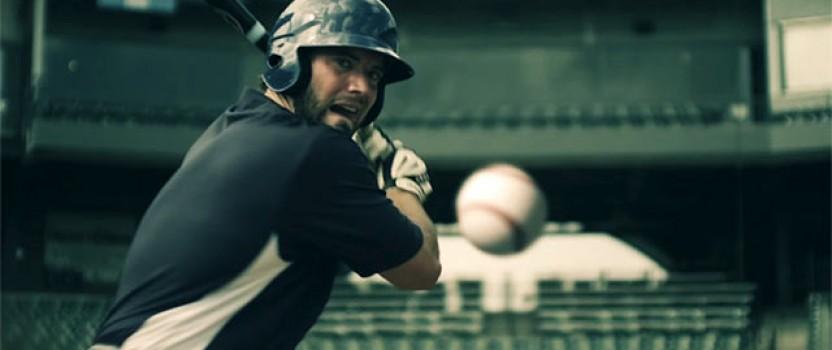 Slow-mo Baseball Action for WebGem Glove Care